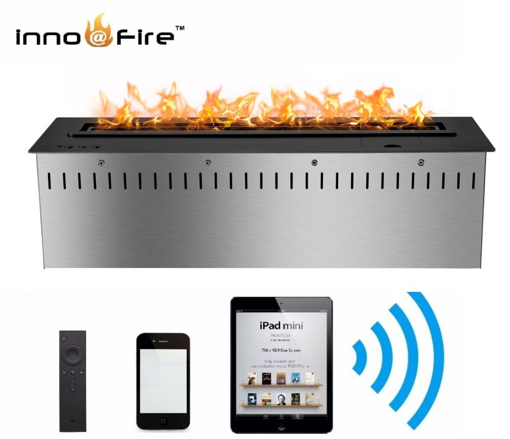 Hot Sale 30 Inches Smart Indoor Bioethanol Fireplace With Remote
