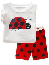 Летняя пижама в горошек для девочек детская одежда 2020 хлопок