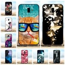 For Samsung Galaxy J6 Plus Case Soft TPU J610FN Cover Beach Pattern Prime Capa