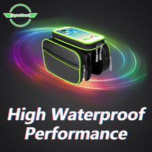 Bike Bicycle Cycling Bag Front Tube Frame Bag Waterproof Phone Touch Screen Bicycle Accessories Cycling Pannier Bag For Bicycle roswheel bicycle frame pannier front tube bag black red