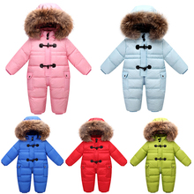 Orangemom winter jacket for girls coat jacket , 90% duck down infant winter coat for baby snowsuit , winter warm jumpsuit oute цены