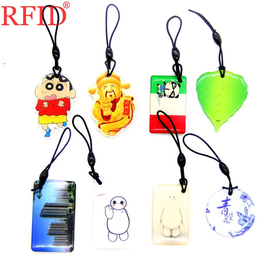 Брелок для ключей UID S50 1K 13,56 UID, сменный клей для ключей IC MFS50 NFC, карта RFID IC, несколько вариантов брелок для ключей, 1 шт.
