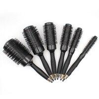 Cepillo de pelo Nano para salón de peluquería, cepillo de pelo redondo de iones de cerámica térmica, rizador de secado de estilismo, 6 tamaños/lote
