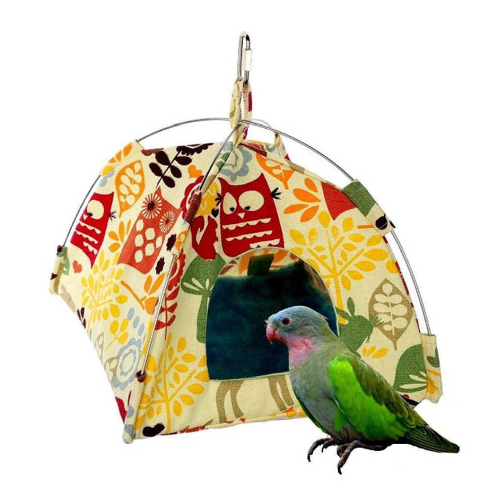 Mały namiot dla zwierząt domowych ptak gniazdo miękkie pluszowe chomika szynszyli wiszący hamak papuga namiot domek zabawkowy dla małych zwierząt