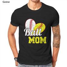 Atacado bola mãe softball beisebol unisex camiseta de beisebol preto vermelho rosa kawaii 2021 roupas masculinas 86374