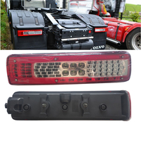 1Pair 24V Car Rear Tail Lights Warning Lamp for Short Model Volvo Truck Trailer Without Buzzer