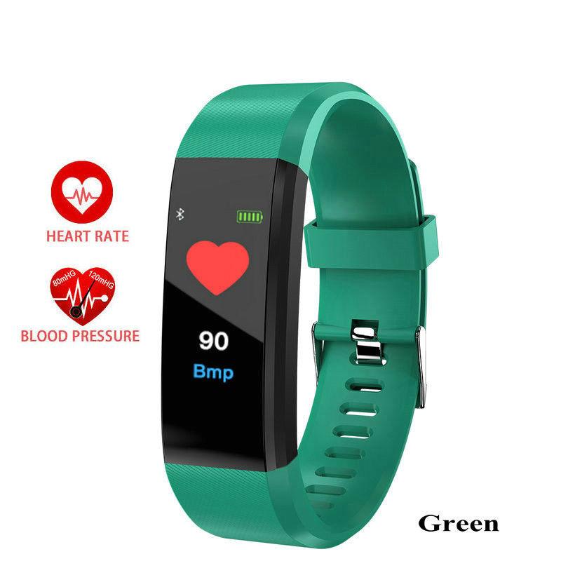 ID115 Plus Smart Bracelet Heart Rate Blood Pressure Health Waterproof Smart Watch   Bluetooth Watch Wristband Fitness Tracker