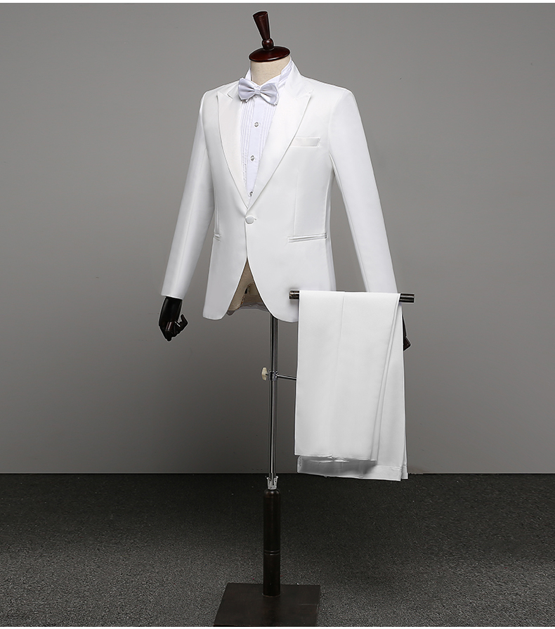 Men's Suits Costumes Hommes Soiree Blazer Linho Branco Masculino Groom  Groomsman Suit FGD10119