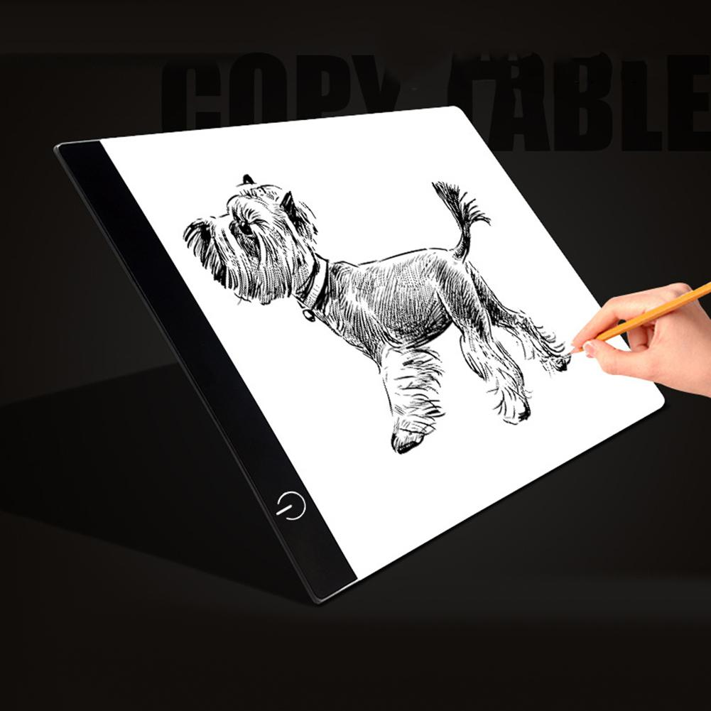 A4 Dimmable USB LED Drawing Board Copy Tracing Stencil Display Digital Tablet