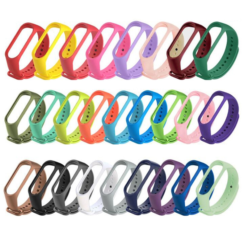 For Mi Band 3 Bracelet Strap Miband 4 Strap Colorful Replacement Silicone Wrist Strap For Xiaomi Mi Banda Smartband