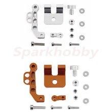 Sparkhobby fpv monitor suporte de montagem para futaba14sg flysky FS-I6 jr radiolink at9 transmissor meta opcional em laranja ou tira