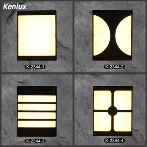 Plastic four styles Led Wall Light Energy-saving Waterproof Aisle Exterior Light Indoor Outdoor Porch LED Wall Lamp Garden Light