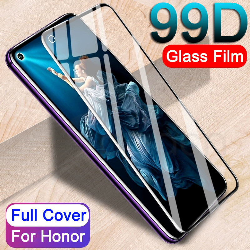 99D Full Cover Tempered Glass For Huawei Honor 20 10 Lite V20 V10 V9 Play Screen Protector For Honor 8X 9 8 Lite Protective Film image
