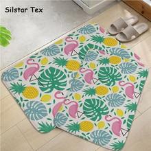 Silstar Tex Modern Door Mats Flamingo Pattern Bathroom Anti-slip Mat Reusable Floor Carpet symmetrical pattern door mat
