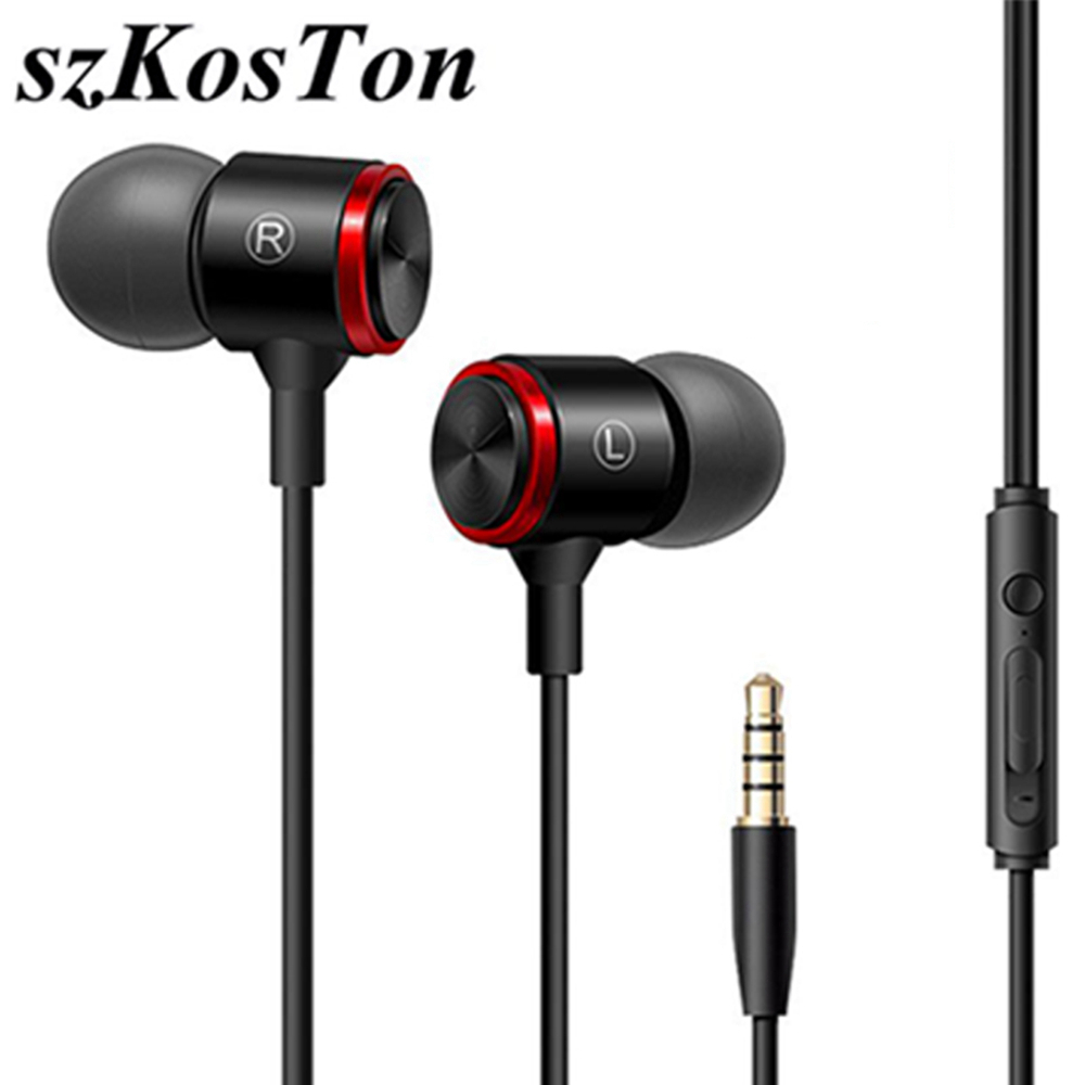 3.5mm In Ear Earphones Bass Stereo Headset Running Earbuds Wired Headphones Sport Earphone For Xiaomi Redmi Note 7 Sluchawki