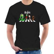 T-shirt Alien ET Film de Science-Fiction américaine, Design créatif sur abby Road, taille européenne @ 108616