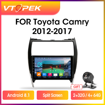 Vtopek 2+32G Android 8.1 Car Radio Multimedia Video Player Navigation GPS For Toyota Camry 7 XV 50 55 2012-2017 Head Unit 2 din