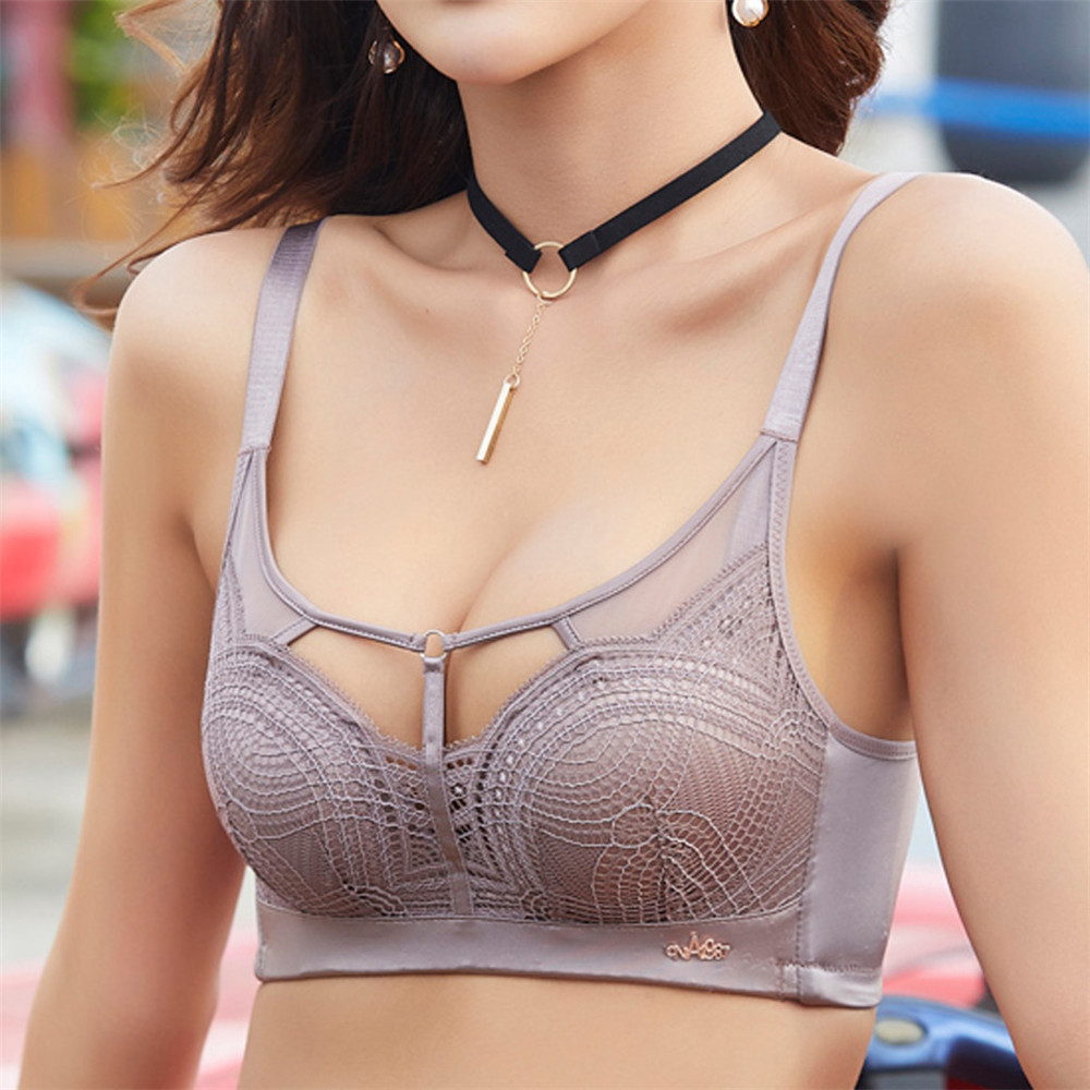 Ladies Thick Autumn And Winter Bra Underwear Sexy Tight Bra Sexy Thickening Bra Lace Lingerie No Rings Underwear секс #4S11