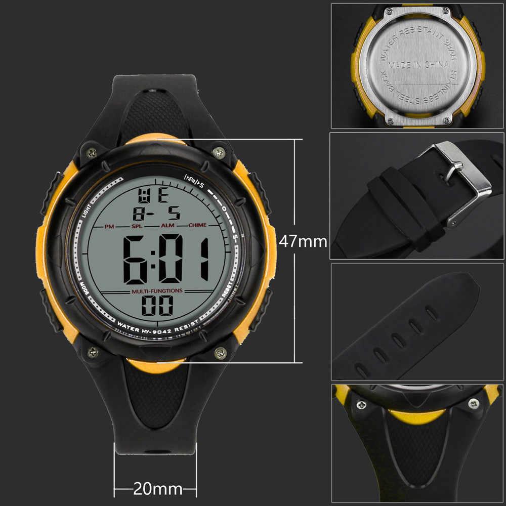 Relógio de pulso impermeável relógio de pulso eletrônico ao ar livre relógio de pulso digital de luxo masculino
