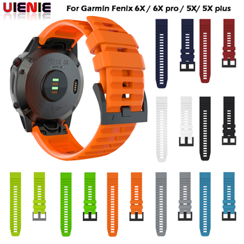 26 22MM Quick Release Watch band Strap for Garmin Fenix 6X 6 Pro Fit Silicone Wrist Band For 5 5X Belt