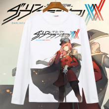 Darling In The Franxx 코스프레 T 셔츠 Zero Two Code 002 남성/여성 봄 가을 긴 소매 티셔츠 Cartoon Top Tee Costume(China)