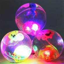 Светящийся надувной шар, Детские уличные игрушки, хрустальный шар с кнопкой батареи, цветная случайная игрушка, светящийся хрустальный шар,...