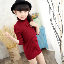 New 2019 Childrens Sweater Autumn Winter Girls Cardigan Kids Turtle Neck Sweaters Fashionable Style Outerwear Pullovers