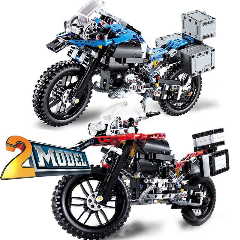 603PCS Building Blocks Motorcycles Model CAR Technic DIY Blocks Creator Bricks Educational Toys For Kids   Christmas Gift