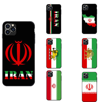Para Samsung A20 50 70 M20 30 S7 S8 S9 S10 LITE Edge PLUS NOTE Iran Bandera Nacional tema Escudo de Armas suave TPU fundas de teléfono