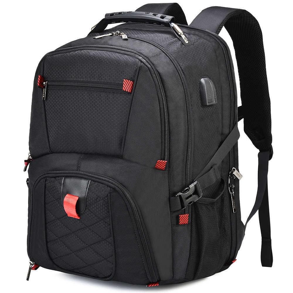 Osoce 17 Polegada portátil mochila tsa resistente à água durável viagem computador saco de volta pacote para mulheres masculinas com porta de carregamento usb