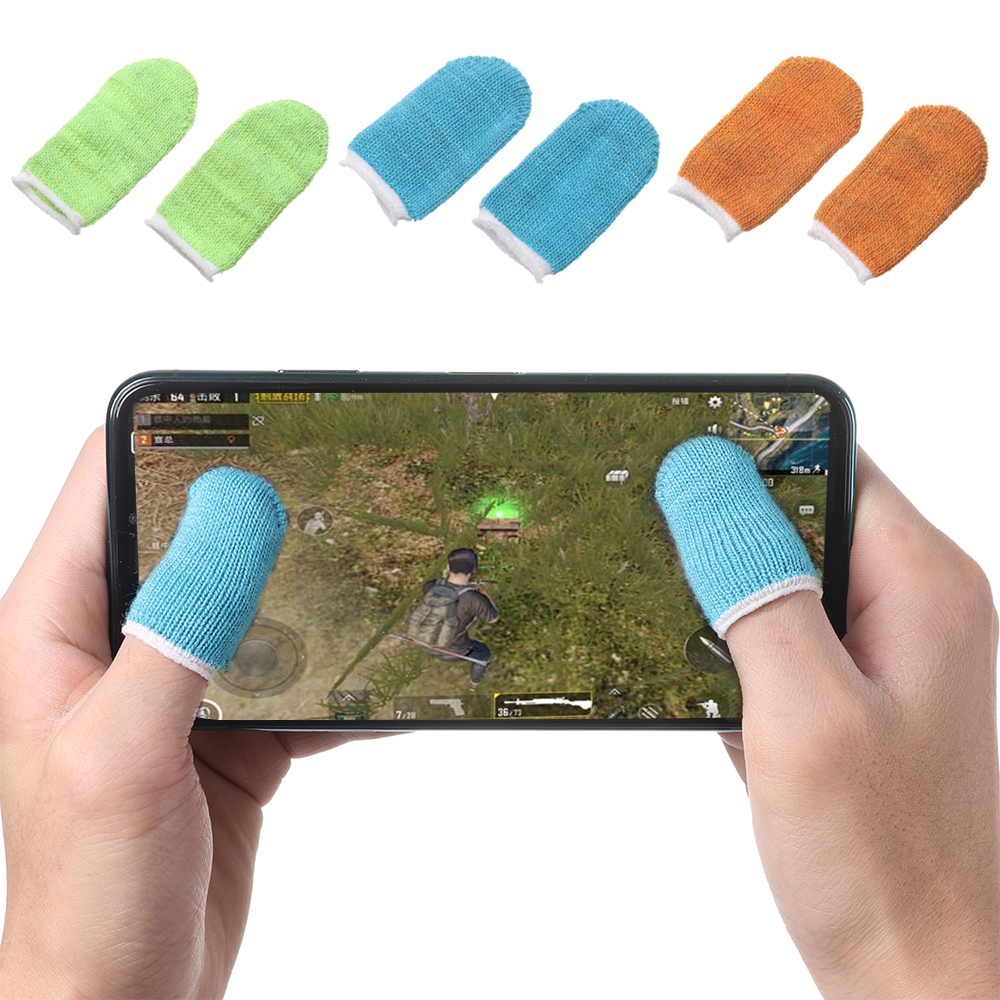 Ultra-thin Full Touch Screen Gaming Fingertips Sweatproof Anti-static Mobile Phone Tablet Finger Cover Gloves Finger Sleeve