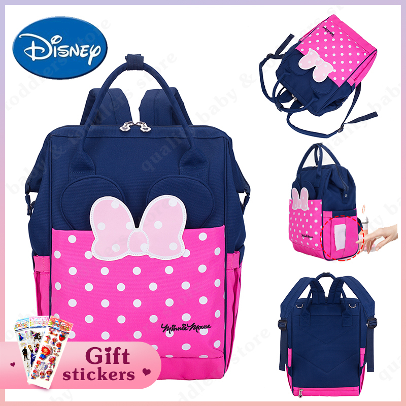 Disney Diaper Bag Fashionable Mummy Maternity Nappy Bag Large Capacity Cartoon Mickey BabyTravel Backpack Mom's Nursing Bag