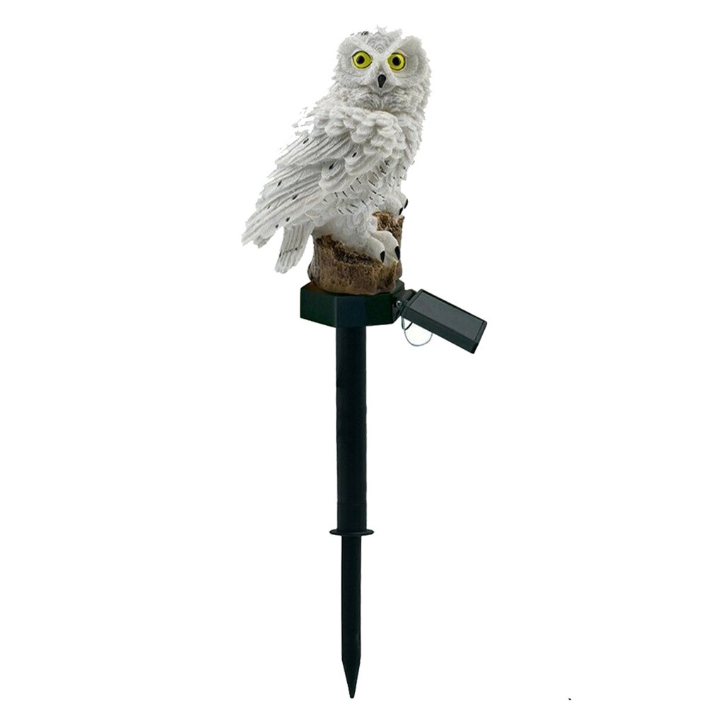 Led Solar Light Owl Pattern Solar Garden Light / Outdoor Waterproof Solar Owl Lawn Light Colorful Cute Light