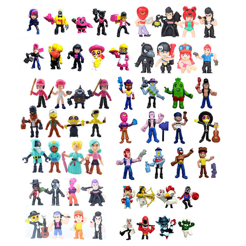 46pcs/set Brawl Action Figure Toys Hero Poco Shelly Nita Colt Jessie Brock Collectiable Block Model Toy For Kids Gifts