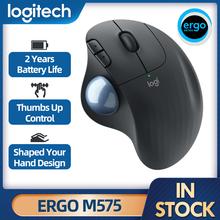 Logitech-ratón inalámbrico M575 ERGO Trackingball, 5 botones, 2000DPI, 2,4 HZ, cómodo, con tecnología de baja energía para oficina y hogar