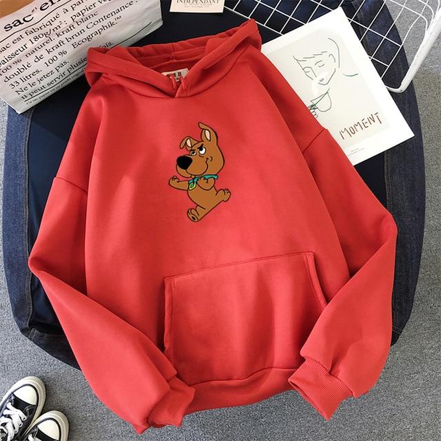 Oversized Cute Dog Print Hooded Sweatshirt Kawaii Hoodies for Women Top Clothes Female Itself Winter Womens Harajuku Hoodie 5