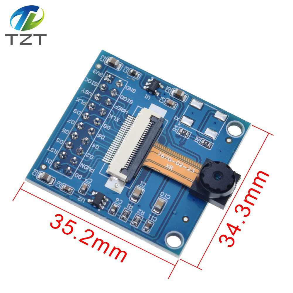 Cvmnkljfge VGA OV7670 CMOS Camera Lens Module CMOS 640x480 SCCB with I2C Interface Adapter Plate for Arduino /Starter /Kit