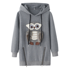 Girls Hoodie Embroidery – Cute Owl Pullover for Girls – 100% Cotton