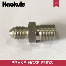 HAOKULE  AN3 3/8x24 UNF to M12x1.25 / M12x1.5 / M12x1.0 Male Bubble Flare Stainless Steel Brake Fittings INVERTED FLARE Adapter
