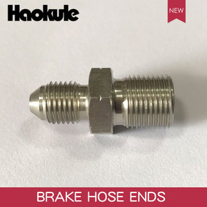 Image 1 - HAOKULE  AN3 3/8x24 UNF to M12x1.25 / M12x1.5 / M12x1.0 Male Bubble Flare Stainless Steel Brake Fittings INVERTED FLARE Adapter