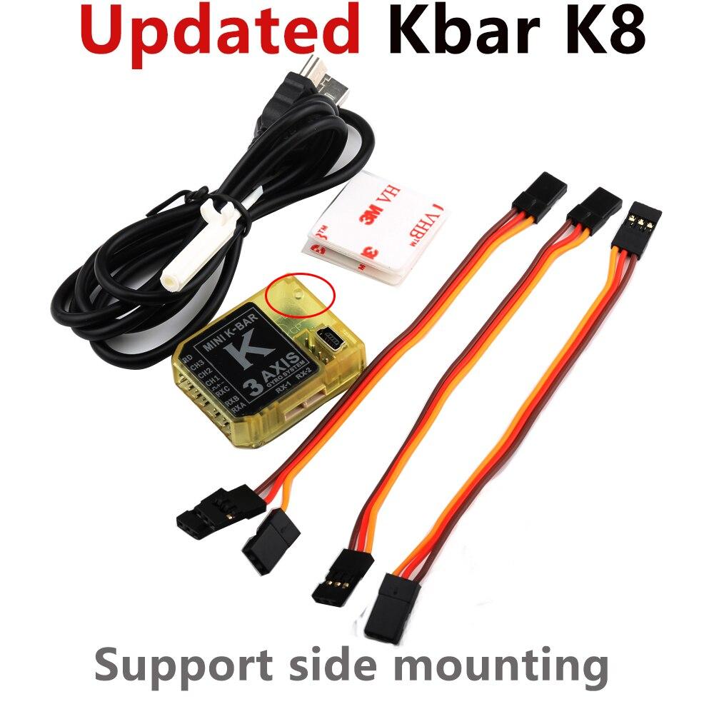 Обновленная модель KBAR V2 Gyro MINI K-BAR K8 3-осевой гироскоп для микрофона выровняемая деталь 450 500 550 600 Радиоуправляемый вертолет