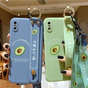Image 4 - 3D cute cartoon fruit avocado Holder Stand lanyard Soft phone case for P30 40 30 40Pro mate 30 Pro nova7 Pro SE2020 Holder cover