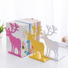 Metal Bookends Pattern Engraved Book Stands Lightweight Durable Book Holders Non-Slip Book Ends Book Support