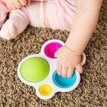 Bebê quente crianças fidget simples dimple brinquedo gordura cérebro brinquedos alívio do estresse mão brinquedos cedo brinquedo educativo para crianças adulto dropshipping