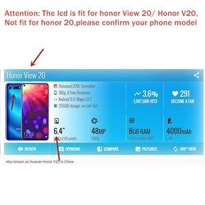 Image 2 - Original Huawei Honor View 20 Pantalla LCD pantalla táctil digitalizador Asamblea Honor V20 pantalla LCD 10 Touch piezas de reparación