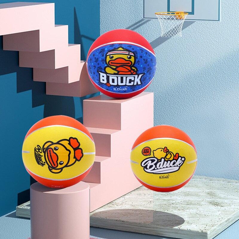 B. Duck Small Yellow Duck Rubber Basketball 3 No. 5 Adult Basketball Children Young STUDENT'S Kindergarten Basketball