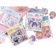 20packs/lot Cute And Kawaii Girl Sticker Packed Life Scrapbook Stationary Japanese Stickers Paper Deco Children Sticker
