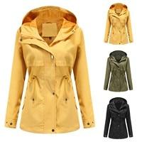Женский непромокаемый куртка-плащ из лёгкого прочного материала 1