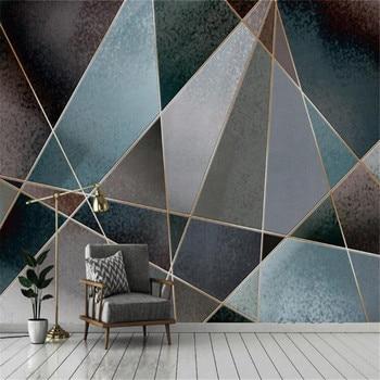 milofi professional custom wallpaper mural abstract geometric line color block retro nostalgia modern minimalist light luxury ba