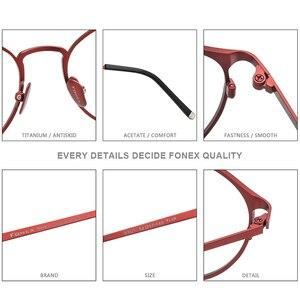 Image 4 - กรอบแว่นตา Titanium กรอบแว่นตา Vintage Vintage รอบแว่นตา Classic ออพติคอลยี่ห้อ Designer กรอบแว่นตาผู้หญิง 8501